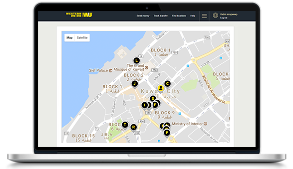 Find the nearest Western Union agent location in Serbia